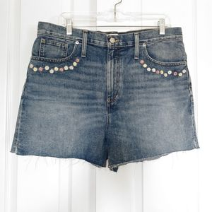 Womens Madewell Floral Perfect Jean Short